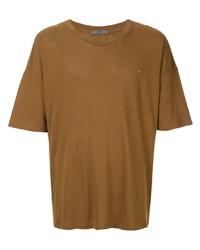 Мужская табачная футболка с круглым вырезом от Billy Los Angeles
