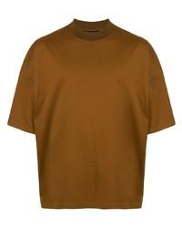 Мужская табачная футболка с круглым вырезом от Caban