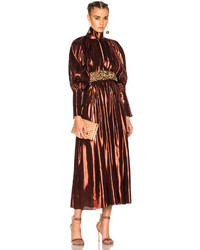Женское табачное вечернее платье от Ellery