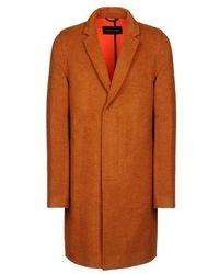 Табачное длинное пальто