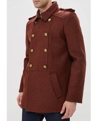 Табачное длинное пальто от Elijah & Sims