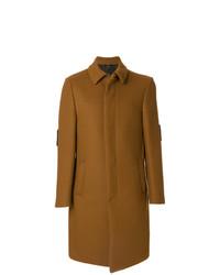 Табачное длинное пальто от Fendi
