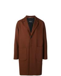 Табачное длинное пальто от Hevo