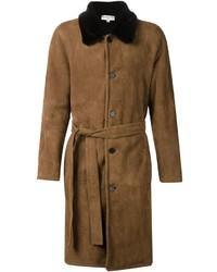 Табачное длинное пальто от Melindagloss