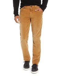 Табачные вельветовые брюки чинос