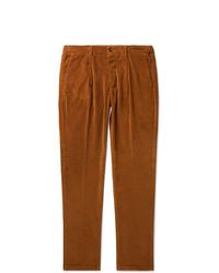 Табачные вельветовые брюки чинос от Altea