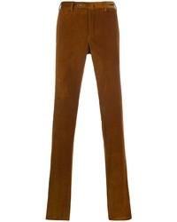 Табачные вельветовые брюки чинос от Pt01
