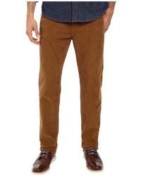 Табачные вельветовые джинсы