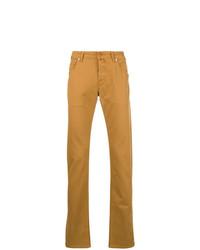 Мужские табачные джинсы от Jacob Cohen