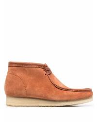 Табачные замшевые ботинки дезерты от Clarks Originals