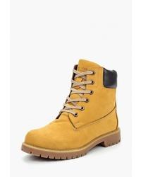 Женские табачные замшевые ботинки на шнуровке от Matt Nawill
