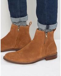 Мужские табачные замшевые ботинки челси от Aldo