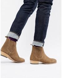 Мужские табачные замшевые ботинки челси от ASOS DESIGN