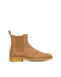 Мужские табачные замшевые ботинки челси от Bottega Veneta