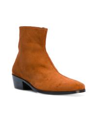 Мужские табачные замшевые ботинки челси от Dorateymur