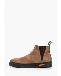 Мужские табачные замшевые ботинки челси от Gant