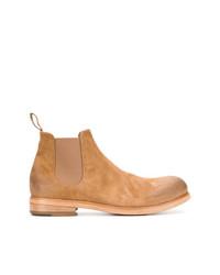 Мужские табачные замшевые ботинки челси от Marsèll