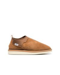 Мужские табачные замшевые ботинки челси от Suicoke