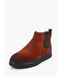 Мужские табачные замшевые ботинки челси от Vitacci