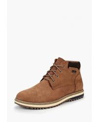 Мужские табачные замшевые повседневные ботинки от Alessio Nesca