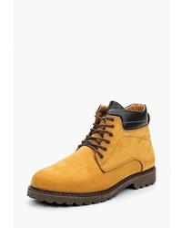 Мужские табачные замшевые повседневные ботинки от Der Spur