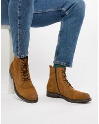 Мужские табачные замшевые повседневные ботинки от Jack & Jones