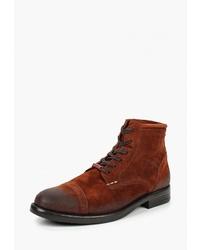 Мужские табачные замшевые повседневные ботинки от Kazar
