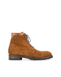 Мужские табачные замшевые повседневные ботинки от Magnanni
