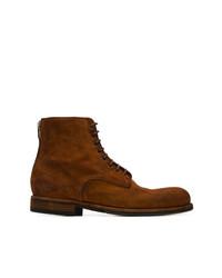 Мужские табачные замшевые повседневные ботинки от Pantanetti