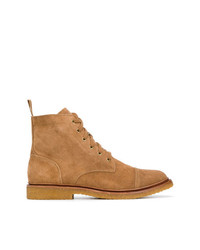 Мужские табачные замшевые повседневные ботинки от Polo Ralph Lauren