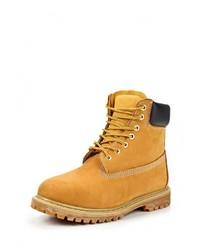 Табачные замшевые рабочие ботинки