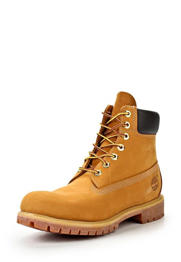 Мужские табачные замшевые рабочие ботинки от Timberland