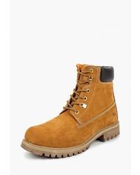 Мужские табачные замшевые рабочие ботинки от Weinbrenner by Bata