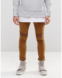 Мужские табачные зауженные джинсы от Asos