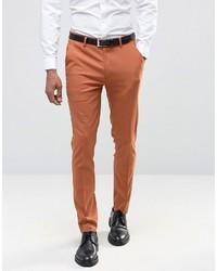 Мужские табачные классические брюки от Asos