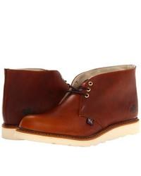 Табачные кожаные ботинки дезерты