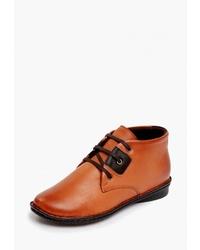 Женские табачные кожаные ботинки дезерты от Alessio Nesca