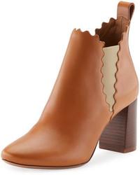 Табачные кожаные ботинки челси