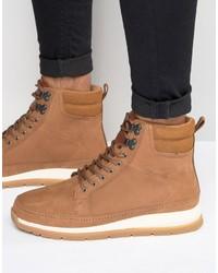 Мужские табачные кожаные ботинки от Boxfresh