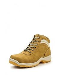 Мужские табачные кожаные ботинки от Hanson