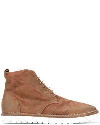 Мужские табачные кожаные ботинки от Marsèll