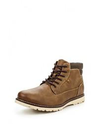 Мужские табачные кожаные ботинки от River Island