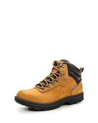 Мужские табачные кожаные ботинки от Skechers