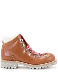 Мужские табачные кожаные ботинки от Undercover