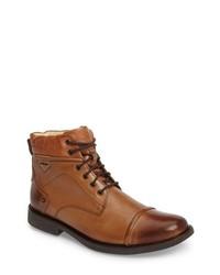 Табачные кожаные классические ботинки