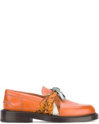 Женские табачные кожаные лоферы от Maison Margiela