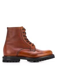 Мужские табачные кожаные повседневные ботинки от Church's