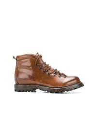 Мужские табачные кожаные повседневные ботинки от Officine Creative