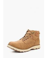 Мужские табачные кожаные повседневные ботинки от Patrol
