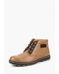 Мужские табачные кожаные повседневные ботинки от T.Taccardi